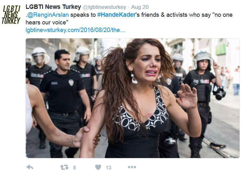 得年22歲的卡迪爾是土耳其著名的跨性別運動者,於本月月初被發現陳屍於伊斯坦堡市區...