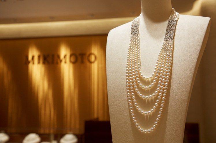 MIKIMOTO頂級珠寶系列日本Akoya珍珠鑽石長項鍊,760萬元。圖╱MIK...