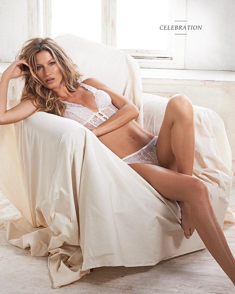 吉賽兒親自為她的自創內衣品牌Intimates代言廣告。圖/擷自官網