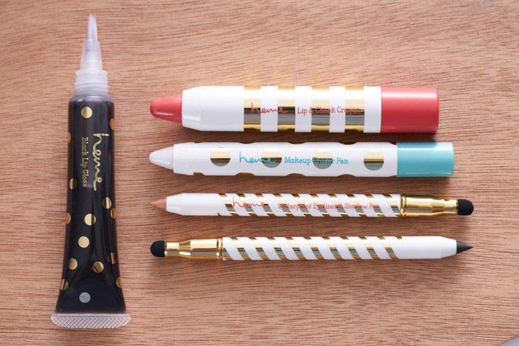heme以類文具「畫妝筆」概念推出系列彩妝,將繪畫技巧應用到彩妝上,從調色渲染、...