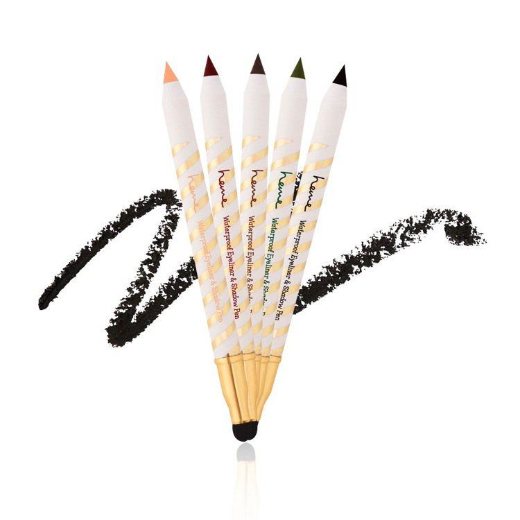 heme速描防水眼線眼影筆,售價149元,共有鑽黑、咖啡、墨綠、酒紅、粉橘5色。...