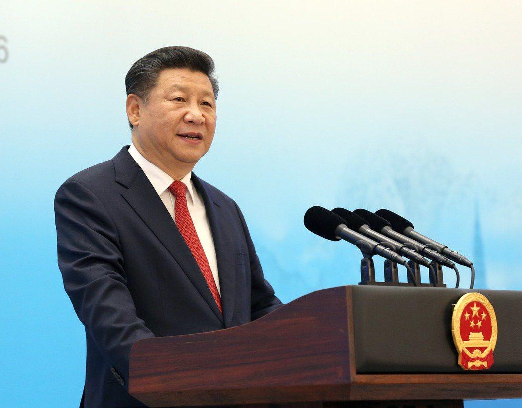 中國國家主席習近平3日在杭州出席G20國集團工商峰會開幕式,發表主旨演講。 圖/...