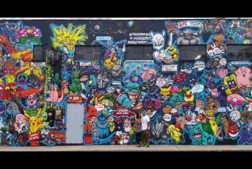 畫室不是補給站 美藝術家彩繪「收服」151隻寶可夢