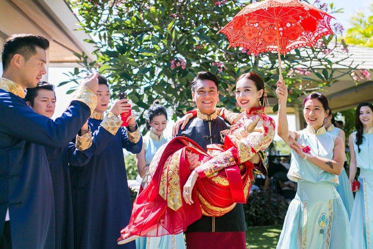 朱孝天、韓雯雯大婚。圖/Lens婚禮影像機構提供