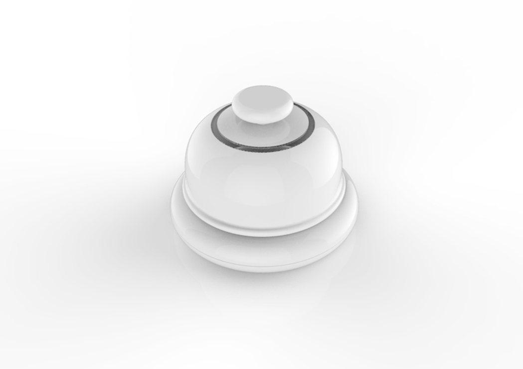 友善服務鈴設計圖。 圖/設計師張世昌提供。