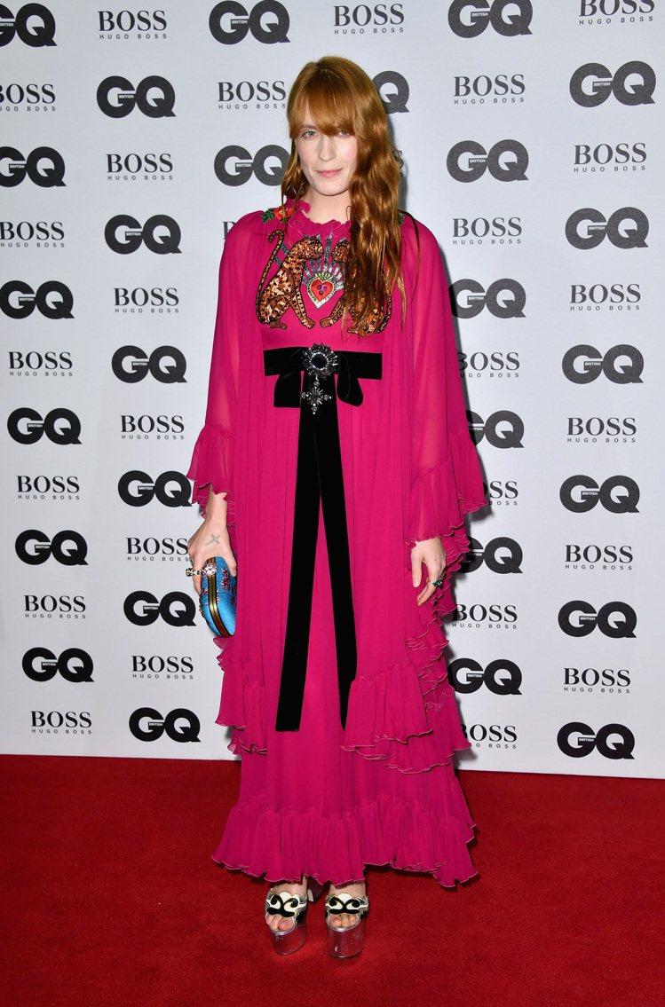 Gucci腕錶及珠寶大使的Florence Welch。圖/Gucci提供