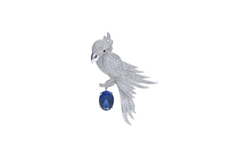 Brooch 鸚鵡晶鑽胸針,34,000元。圖/ARTE提供
