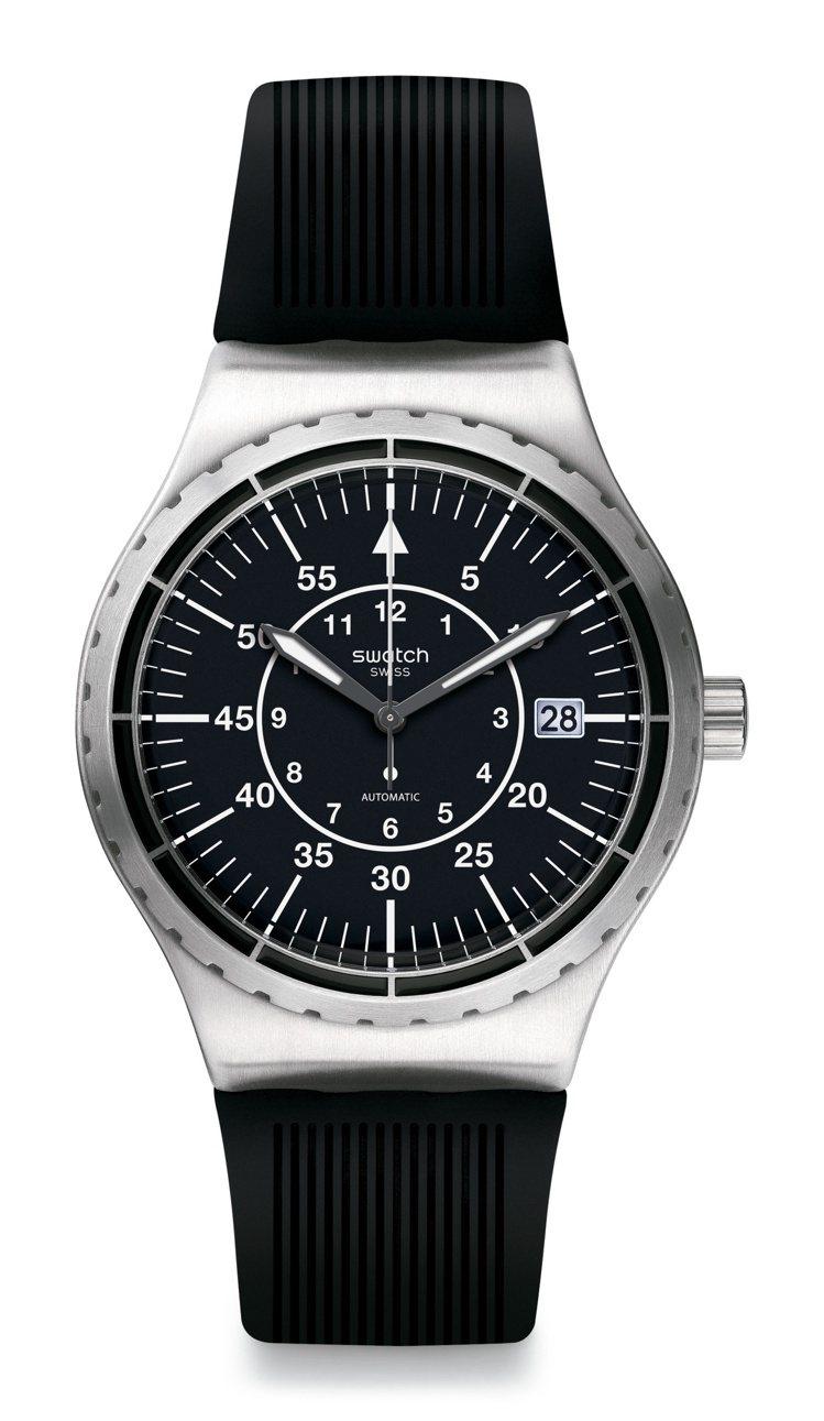 SWATCH Sistem 51 Irony系列黑洞引力腕表,6,300元。圖/...