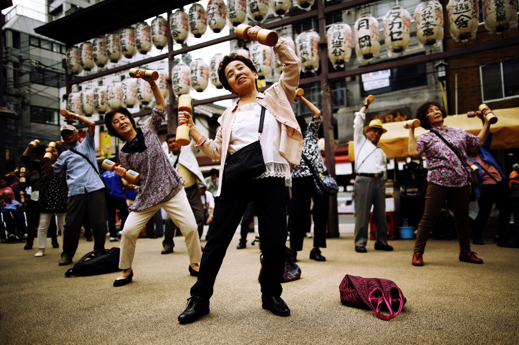 圖為日本敬老節慶祝活動。 圖/路透社