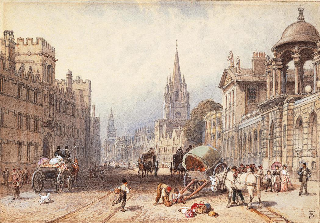 在經濟上,牛津城那時的經濟結構非常倚賴牛津大學的消費,大學是當地貨品和服務的最大...