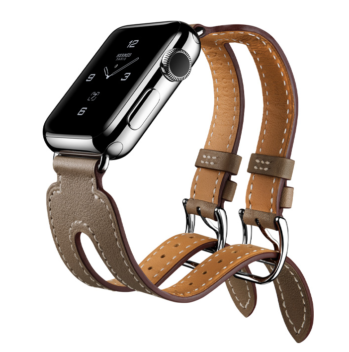 HERMES Apple Watch新品,以愛馬仕經典涼鞋發想出鏤空雙表帶。圖/...