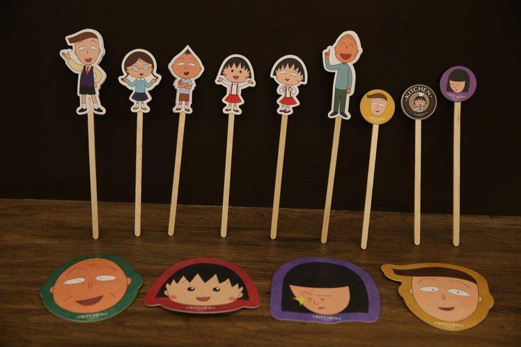 櫻桃小丸子主題餐廳授權商品。記者陳柏亨/攝影