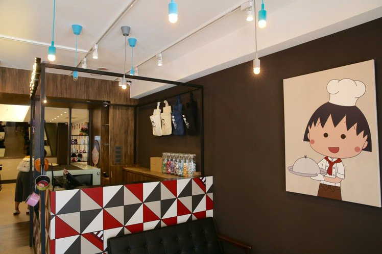 櫻桃小丸子主題餐廳即將在9月10日正式試營運。記者陳柏亨/攝影