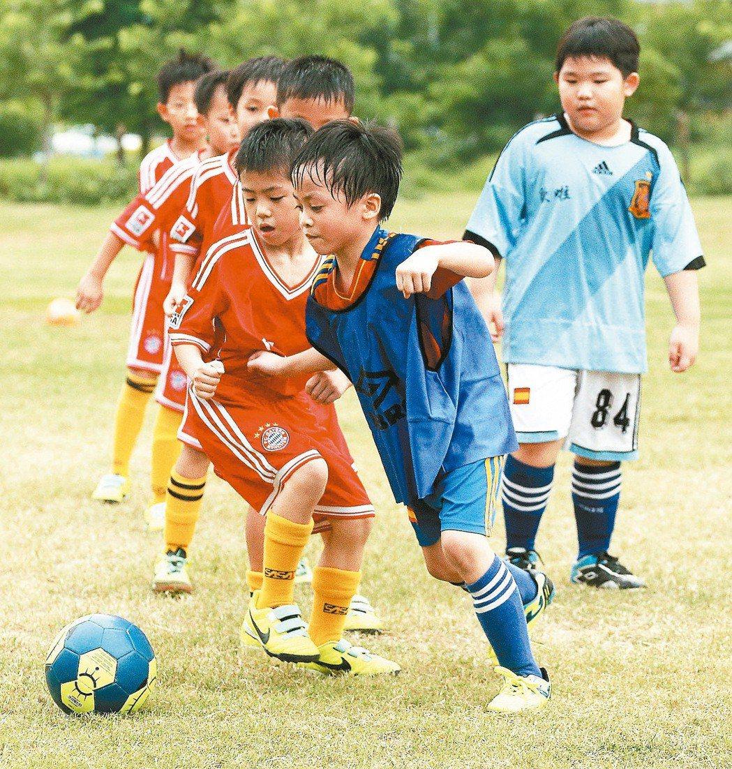 成長中的兒童、青少年,運動時排汗量大,很需要快乾的運動衣。圖/本報資料照