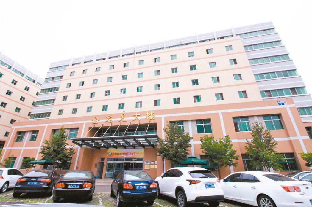 北京遠見育成科技孵化器,位於北京上地的金遠見大樓內。 報系資料照