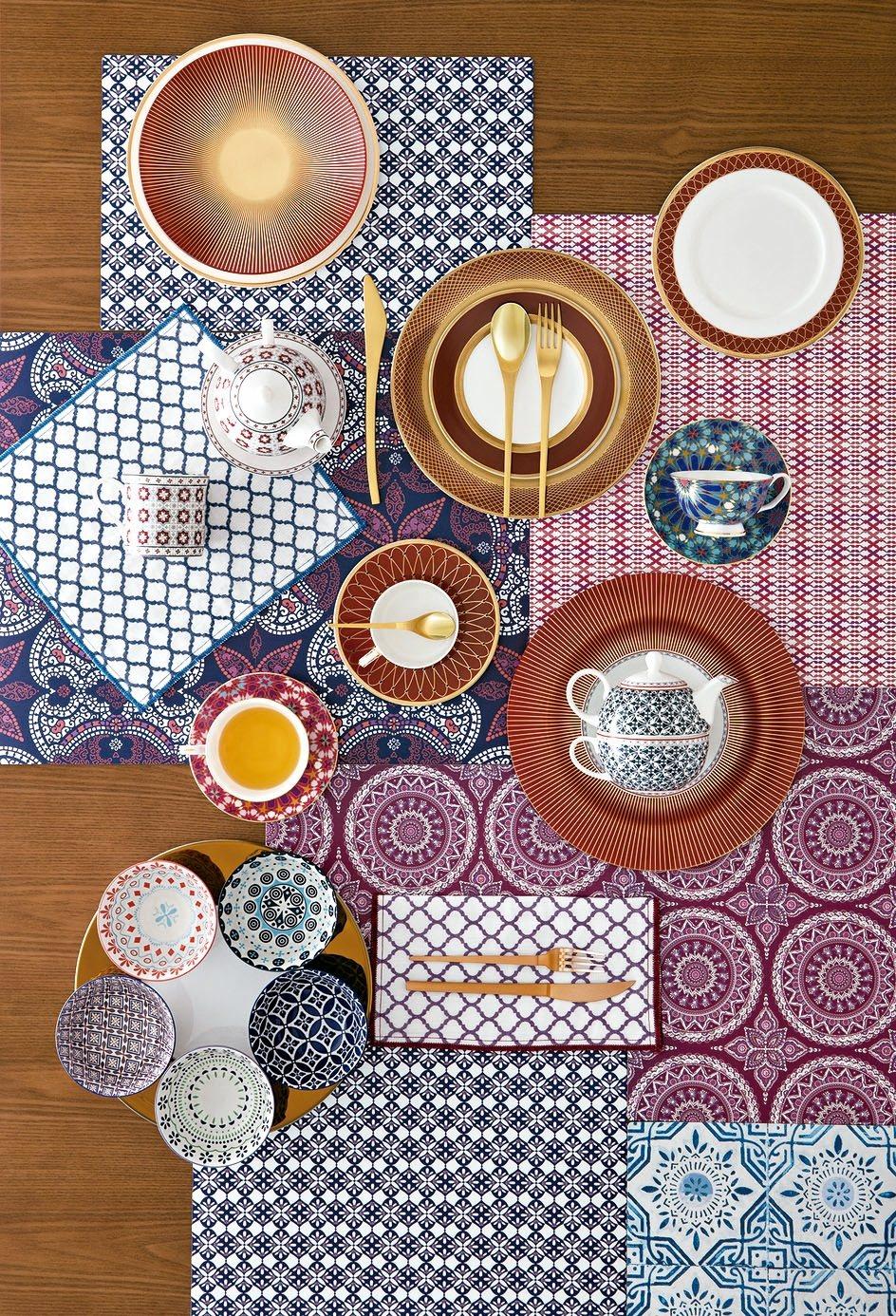 隨著季節變化更換碗盤食器,也能為餐桌呈現異國風情。 圖/HOLA提供