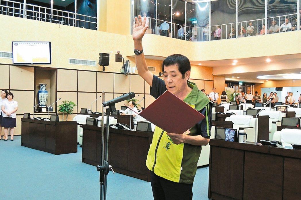 民進黨台南市議員王峻潭。 聯合報系資料照片/記者曹馥年攝影