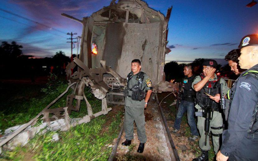 北大年府鵠坡縣(Khok Pho)九月再發生爆炸案。 圖/路透社