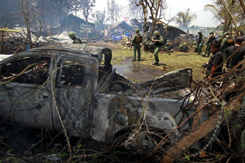 北大年府農集縣(Nong Chik)今年七月遭逢恐攻。 圖/路透社