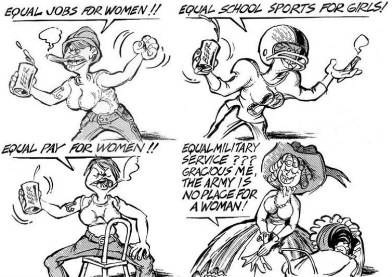 女性主義只是「女權自助餐」,拒絕正面討論「女性要不要服兵役」的問題? 圖/R...