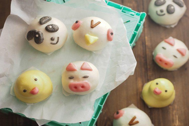 同一系列共有小豬、貓熊、小鳥、小鴨四種造型,每種造型都是不同口味。