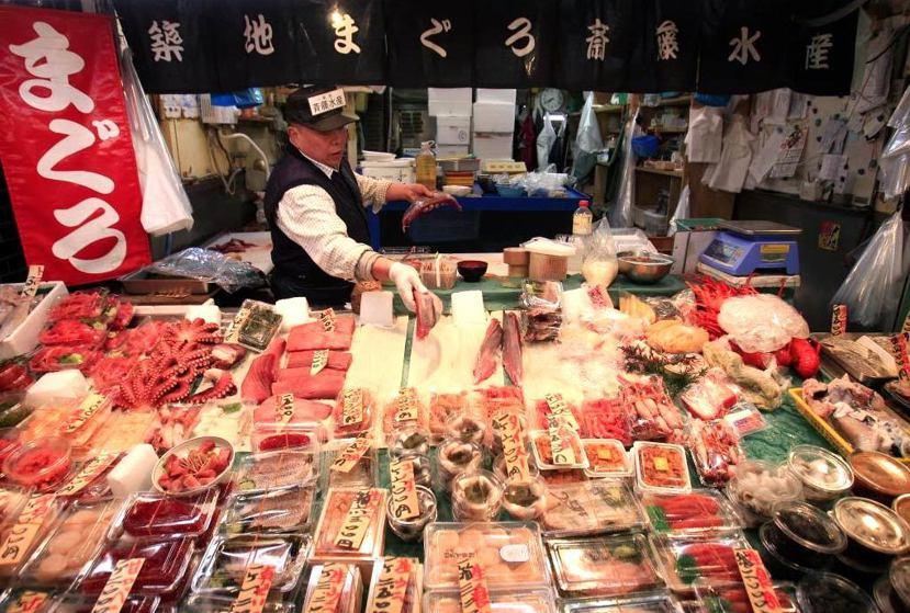 築地市場遠近馳名,被喻為「東京的廚房」。