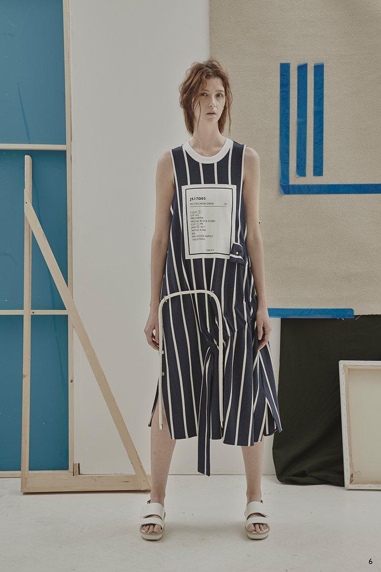 胸前縫補字樣來自繡學號的靈感。圖/JAMIE WEI HUANG 提供