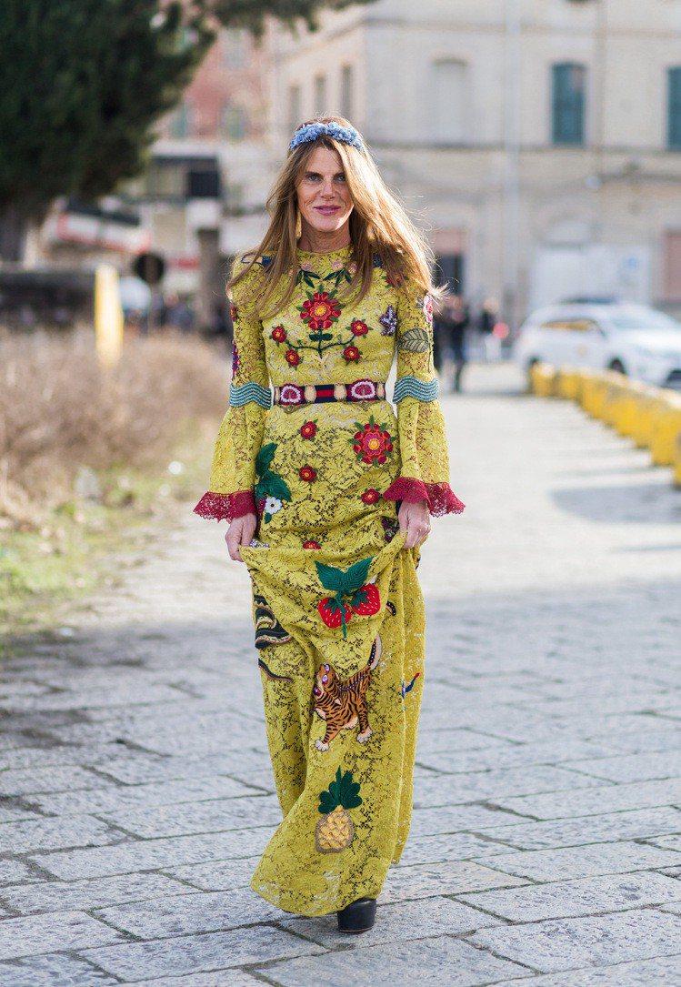Anna Dello Russo是Gucci愛好者。圖/擷取自playbuzz....