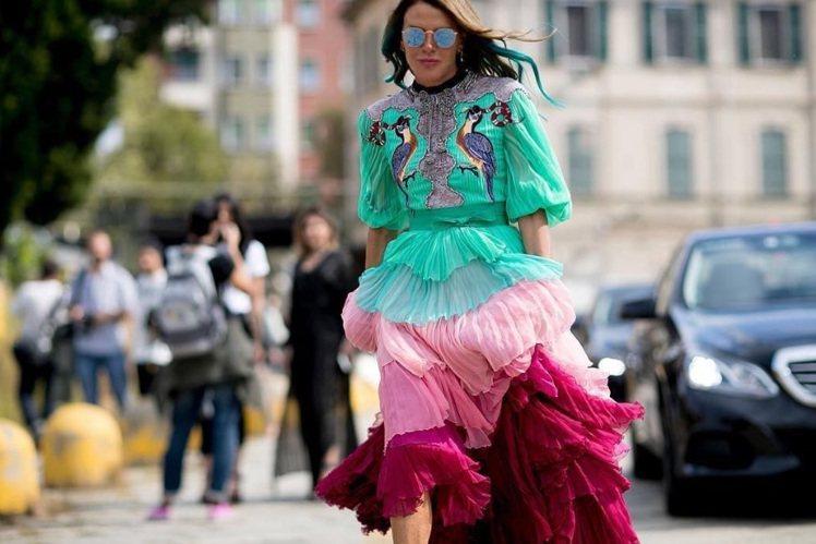 歐美時尚圈知名的搞怪女王Anna Dello Russo也和小S選中了同款衣服,...