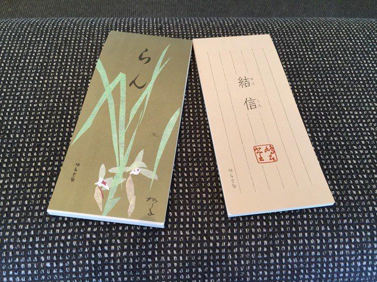 沈方正常寫短箋,對紙要求也高,最愛買日本「鳩雎堂」箋紙。圖/沈方正提供