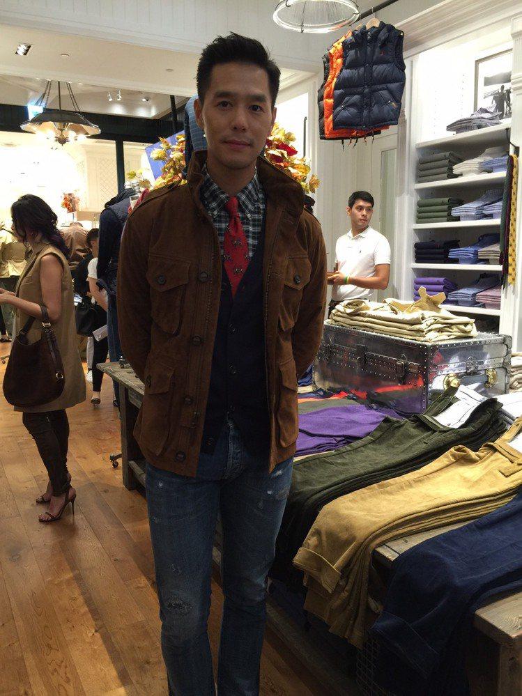 丁春誠出席POLO Ralph Lauren板橋店開幕,坦承從小就是該品牌粉絲。...