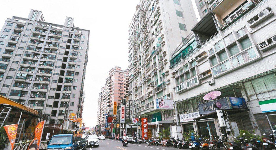 台南永康區中華二路商圈。 報系資料照