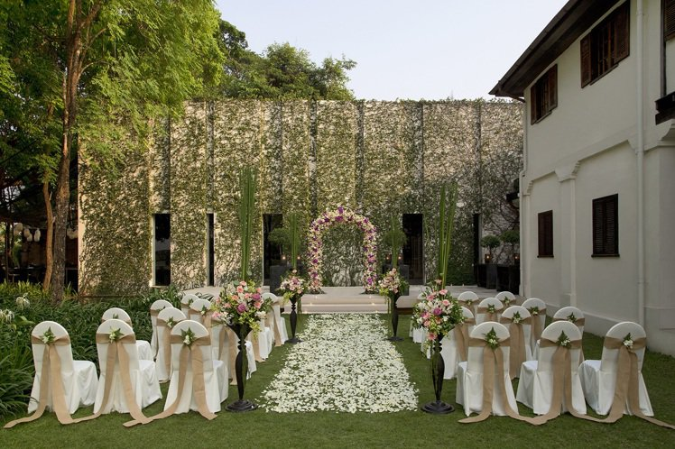 酒店婚禮簡單典雅。圖片提供/Anantara Chiang Mai Resort
