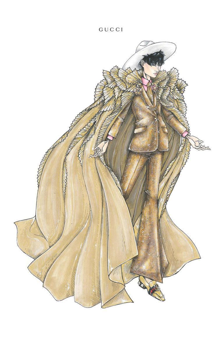 李宇春是Gucci亞太區腕表珠寶品牌大使,演唱會服裝自然由品牌為她量身訂製。圖/...