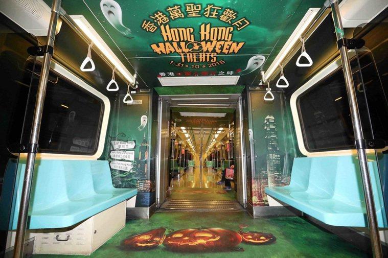 香港旅遊發展局於台北捷運打造「萬聖搞鬼列車」,讓民眾可無時差感受香港最搞怪的過節...
