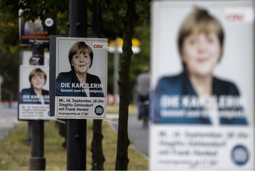 柏林邦選舉海報。 圖/美聯社