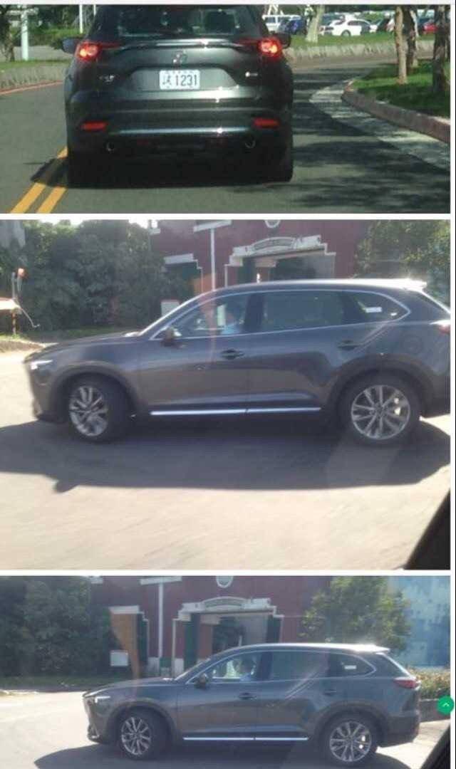 網友在台北拍下CX-9測試車的身影。 圖/網友提供