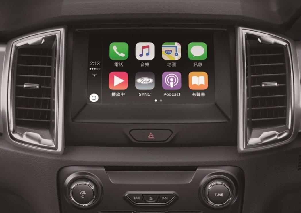 車主只需使用支援Apple CarPlay的iPhone 手機,並以傳輸線連結車...