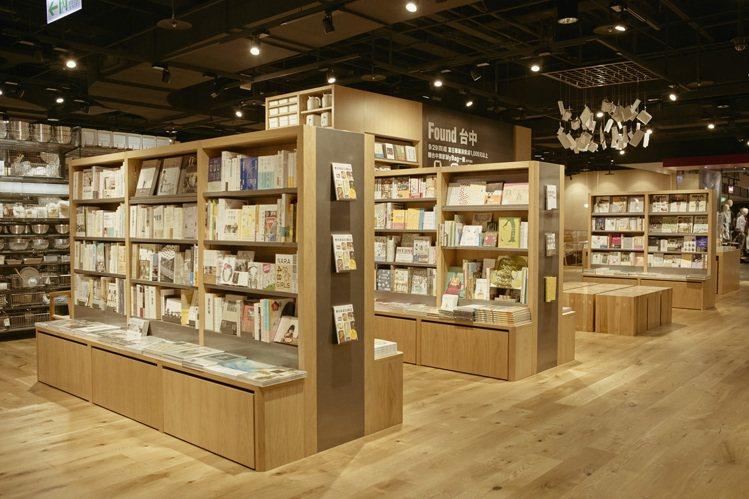MUJI BOOKS台中旗艦店網羅5千本選書。圖/MUJI提供