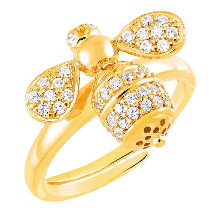 Honeybee-Abeja晶鑽蜜蜂戒指,11,000元。 圖/ARTE提供