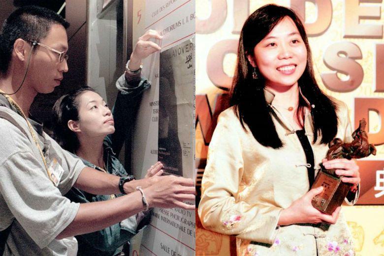 台灣電影走過1998年金馬獎慘敗經歷,隔年金馬獎上,台灣導演沈可尚(左)、蕭菊貞(右),分別以《與山》和《紅葉傳奇》奪得創作短片與紀錄片獎項。 圖/聯合報系資料庫
