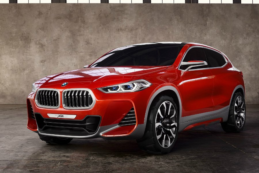 BMW 在巴黎車展上對外展示 BMW X2 Concept 概念車 摘自 BMW