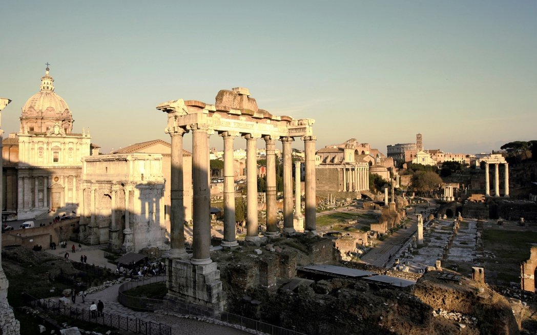羅馬廣場,古羅馬時代政治與經濟的中心。 圖/美聯社