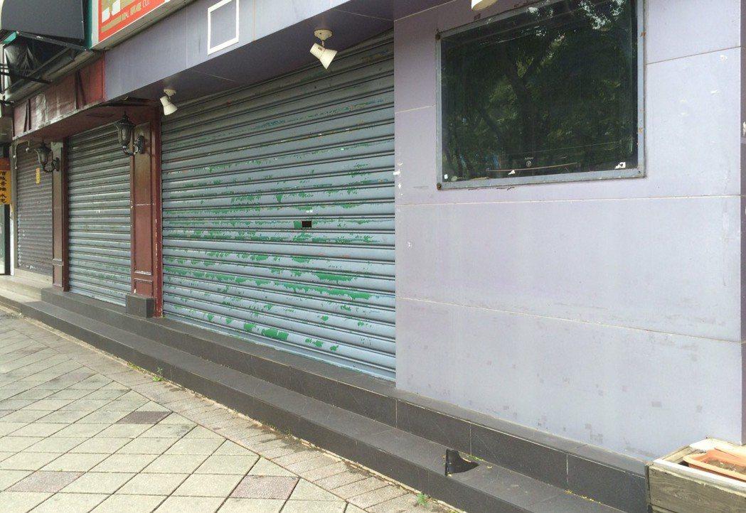 北市天母忠誠路名牌紛紛撤店。圖/吉家網提供