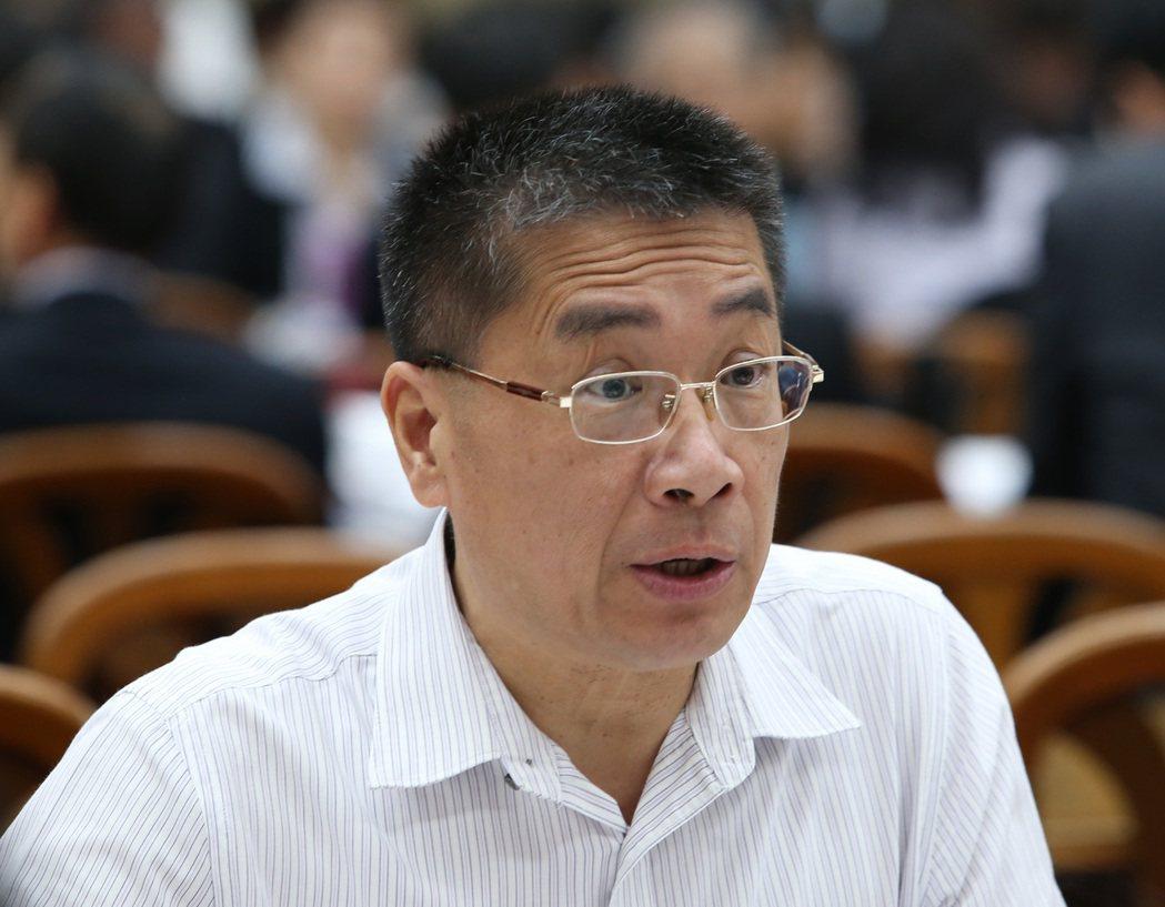 行政院新任發言人的徐國勇日前宣布,外交部副參事張秀禎出任副發言人。 聯合報系資料...