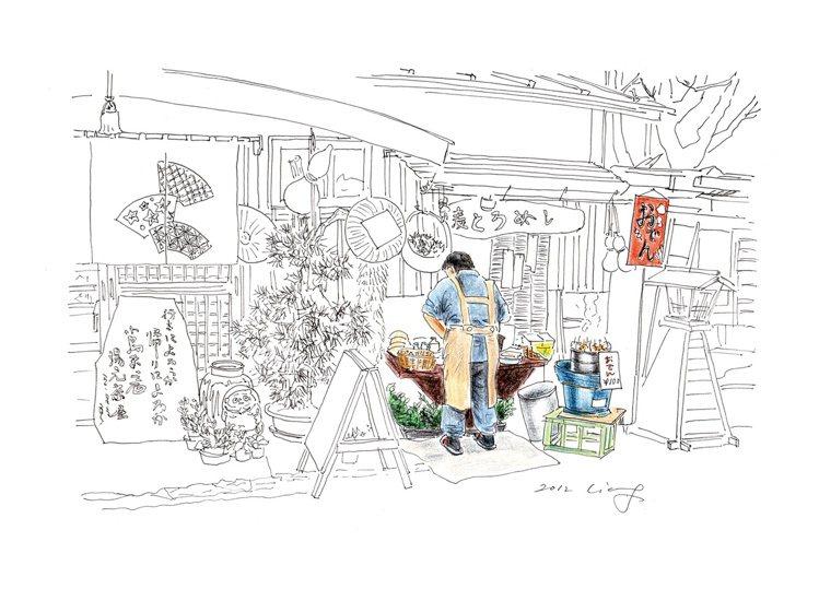 梁旅珠喜歡手繪留住旅行中的風景。圖/天下文化提供