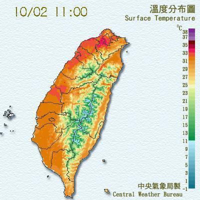 中央氣象局表示,今日水氣減少,在太陽的加溫下,全台今日天氣晴朗、略有高溫,白天最...
