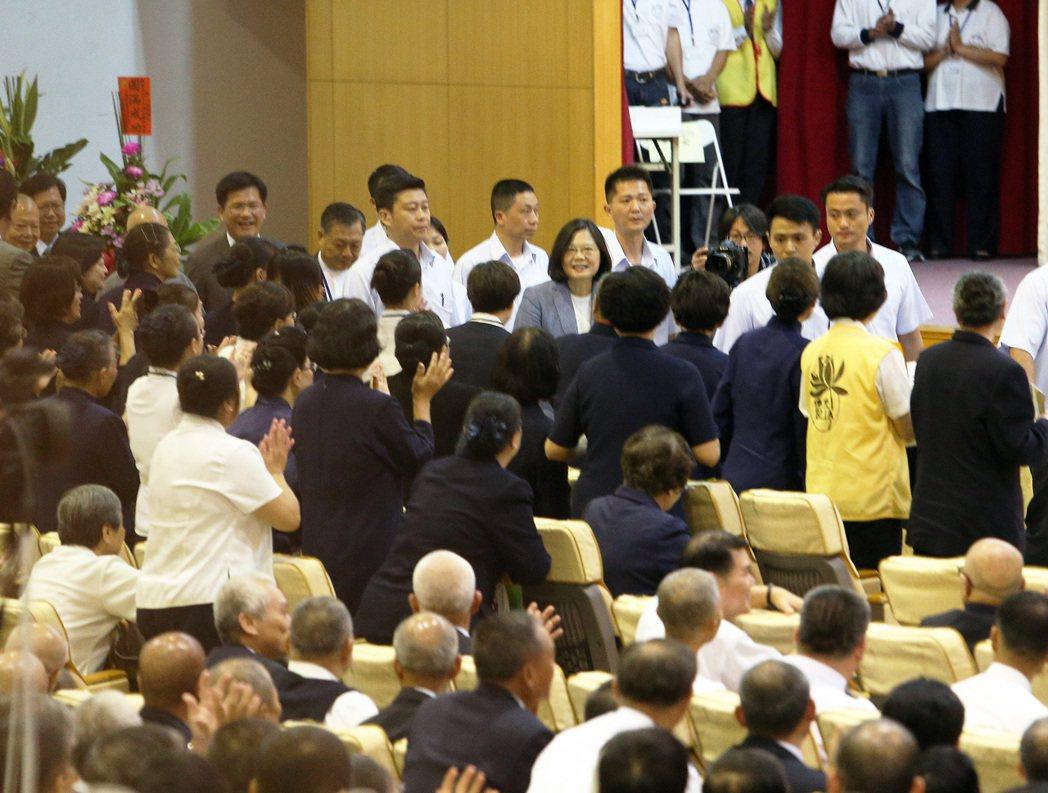 蔡英文總統參加一貫道世界總會成立20週年活動。記者劉學聖/攝影