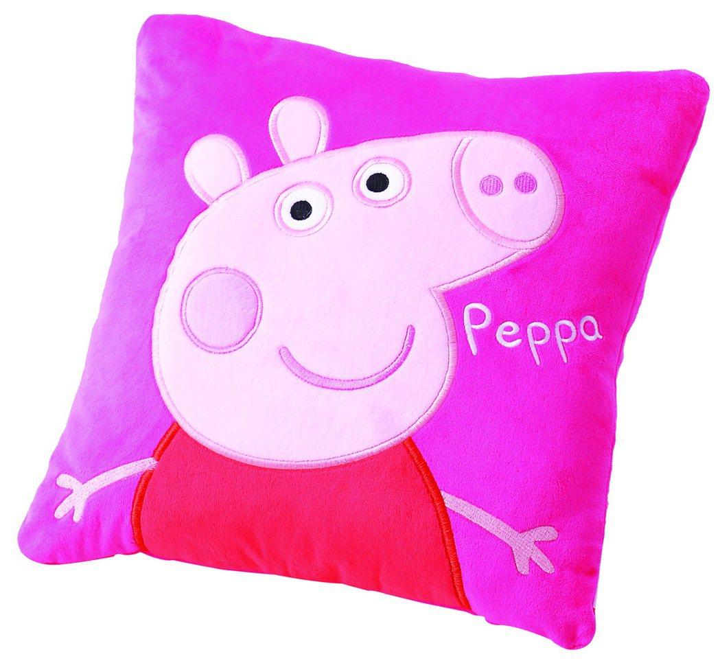 台茂購物中心周年慶第一波卡友禮祭出小朋友最愛的佩佩豬抱枕。圖/台茂提供