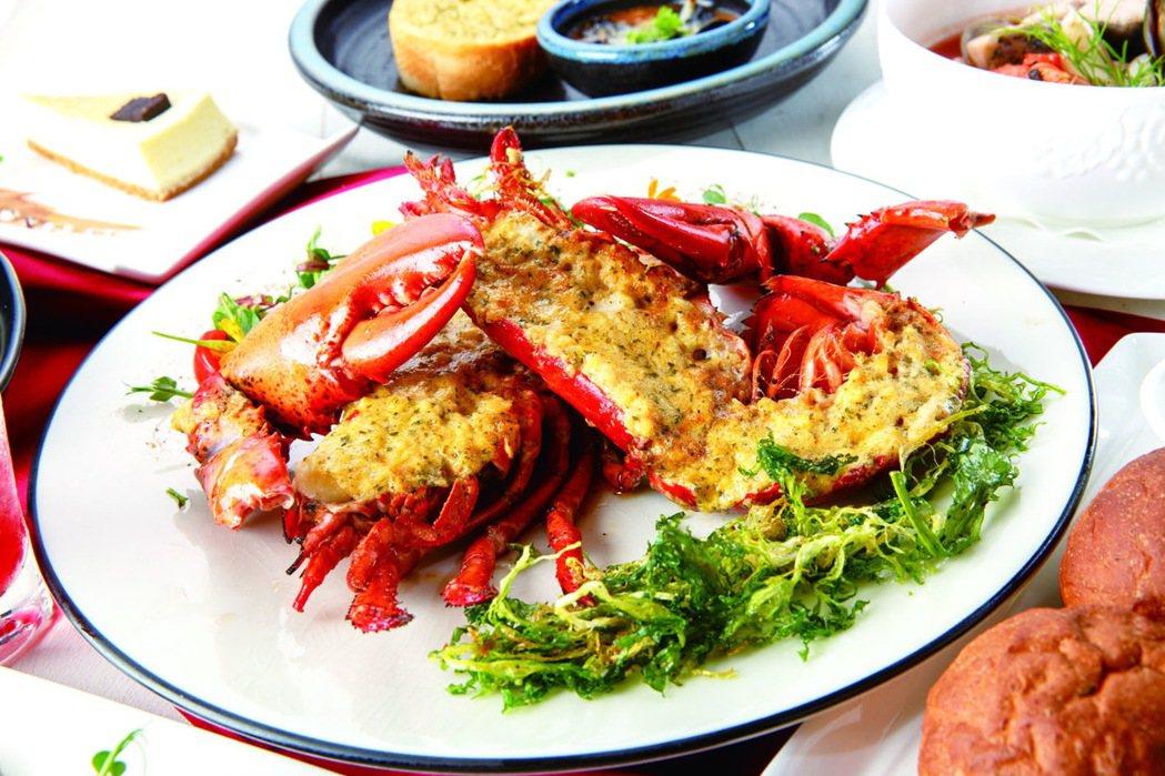 天蔥餐廳爐烤波士頓龍蝦。圖/台茂提供